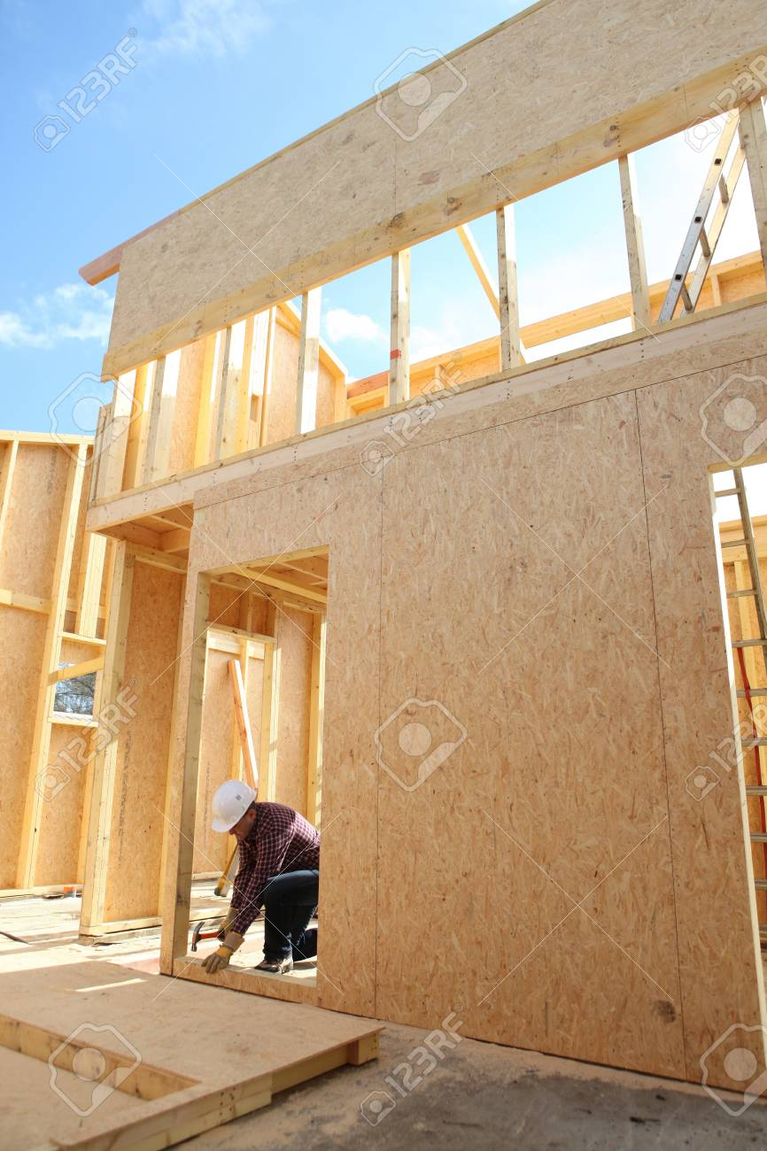 Construction of wooden house Stock Photo - 14213255
