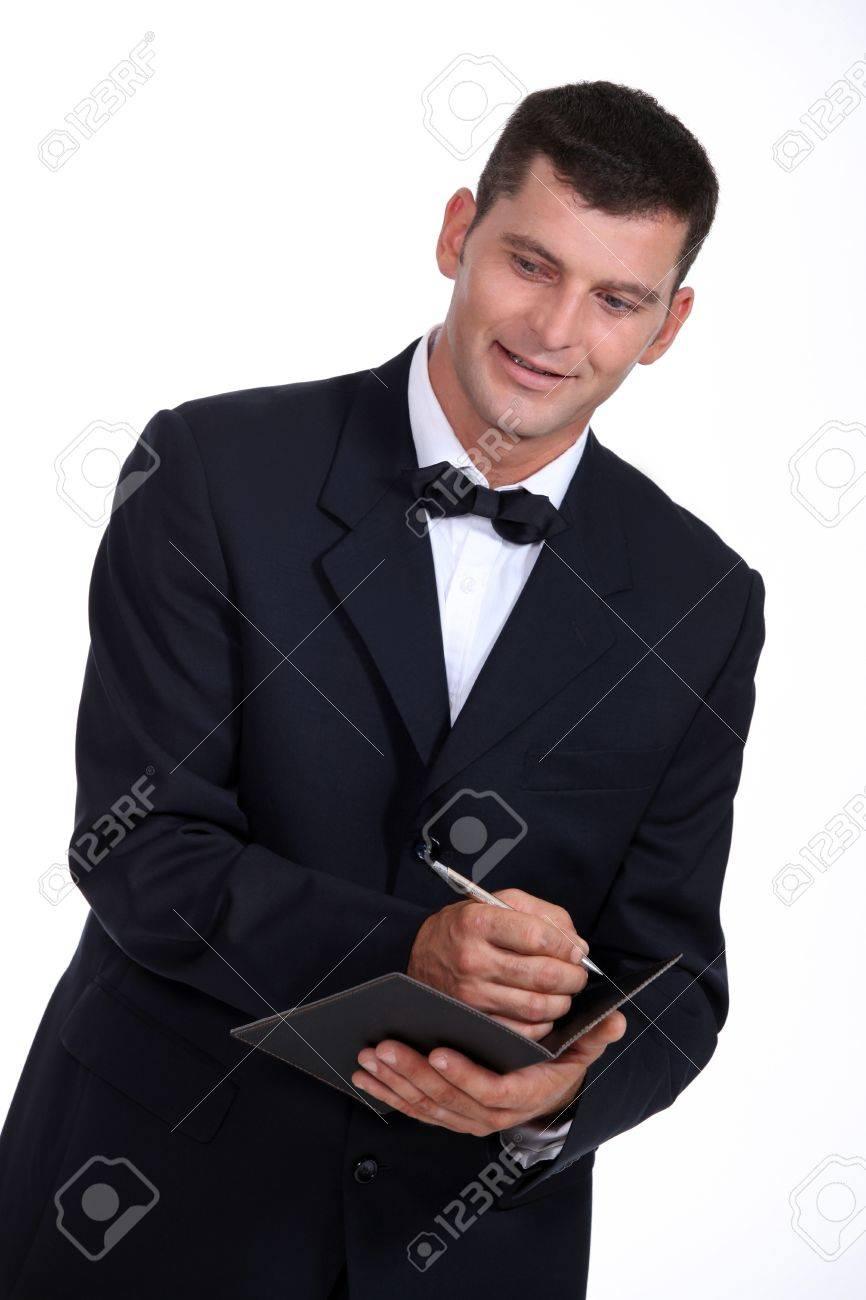 Waiter taking an order Stock Photo - 15118685