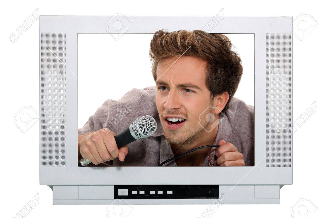 young male tv host Stock Photo - 15154508