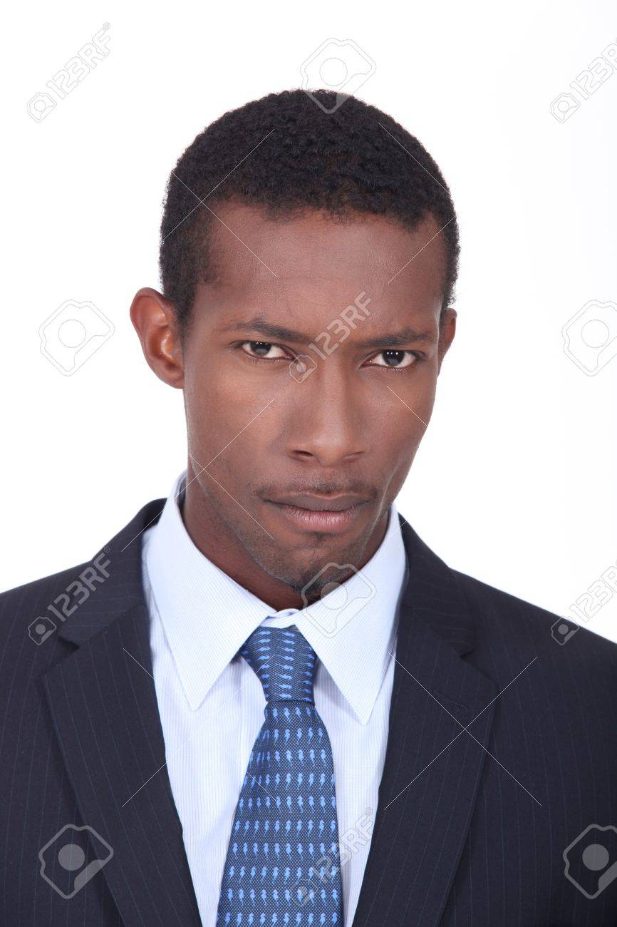 A black man in a suit Stock Photo - 15233342