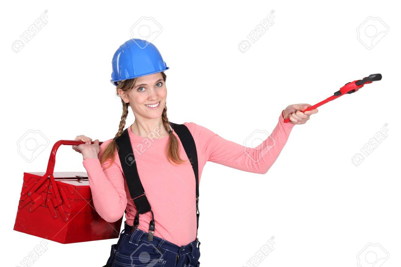 A handywoman Stock Photo - 15262922