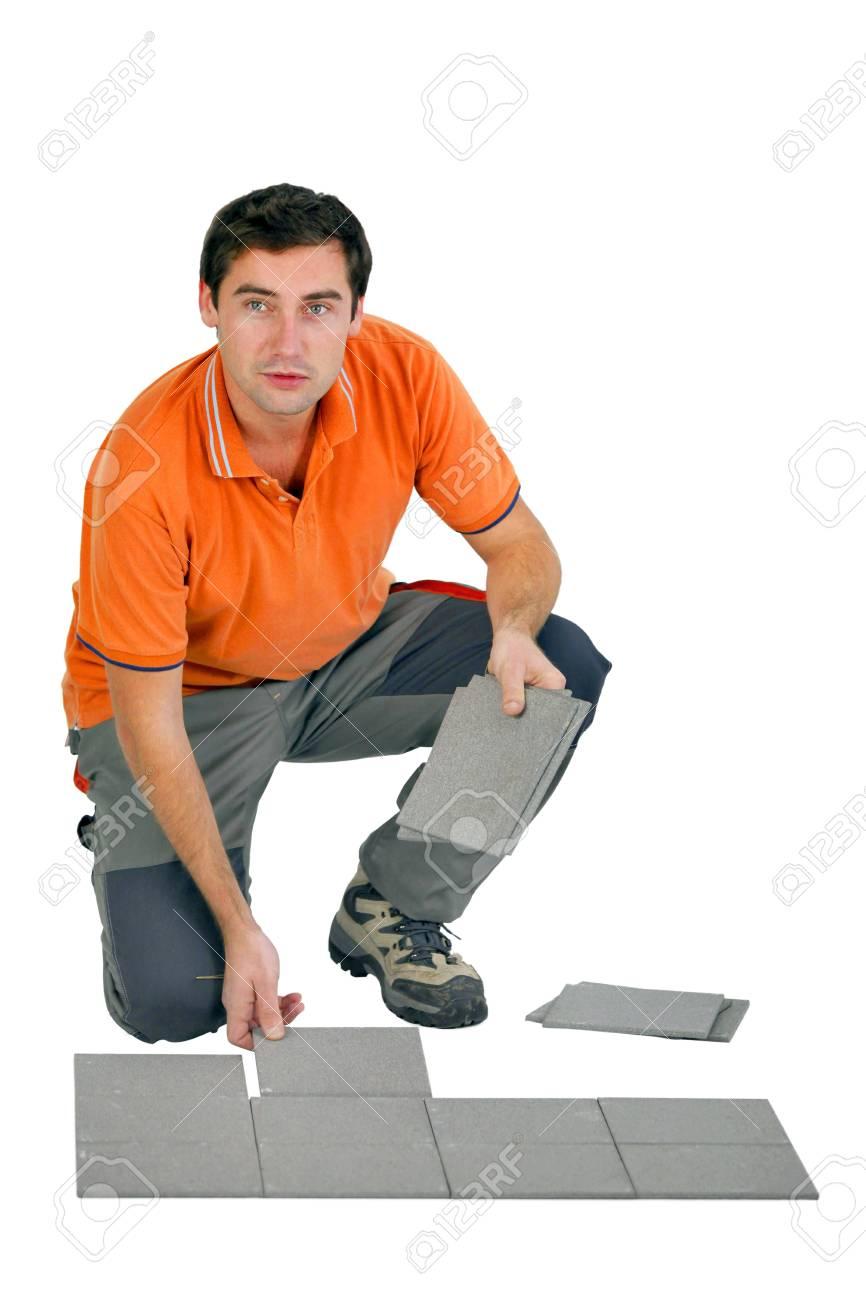 tiler isolated on white background Stock Photo - 15391481