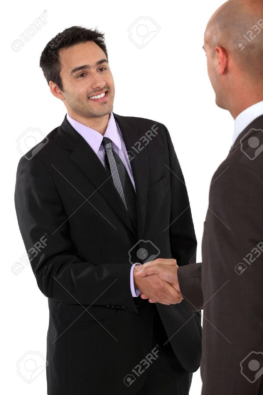 A business handshake Stock Photo - 15391569