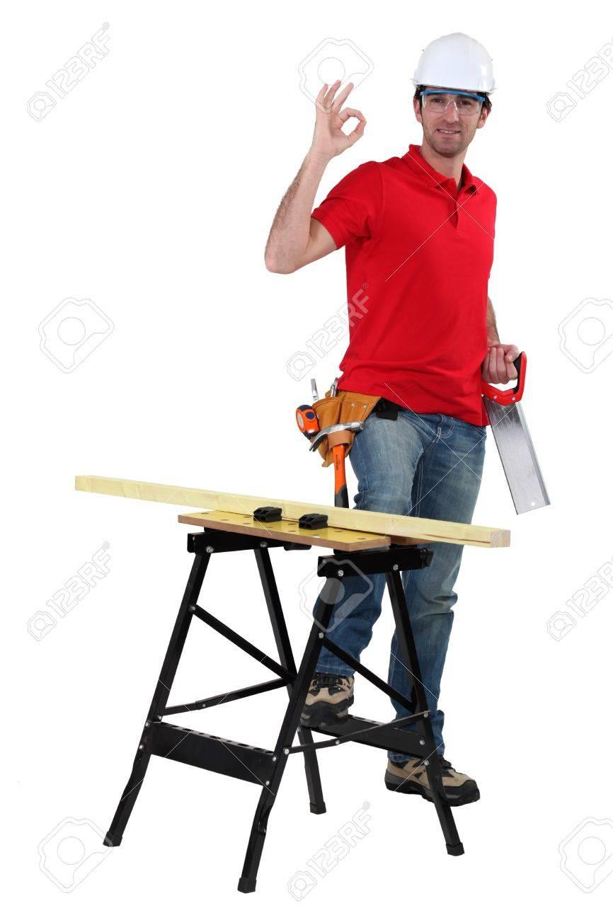 Sawing wood Stock Photo - 15409275