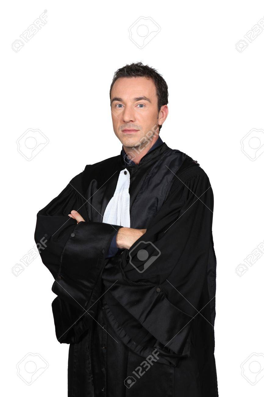 Man In Graduation Robes With Arms Folded Stock Photo, Picture And ...