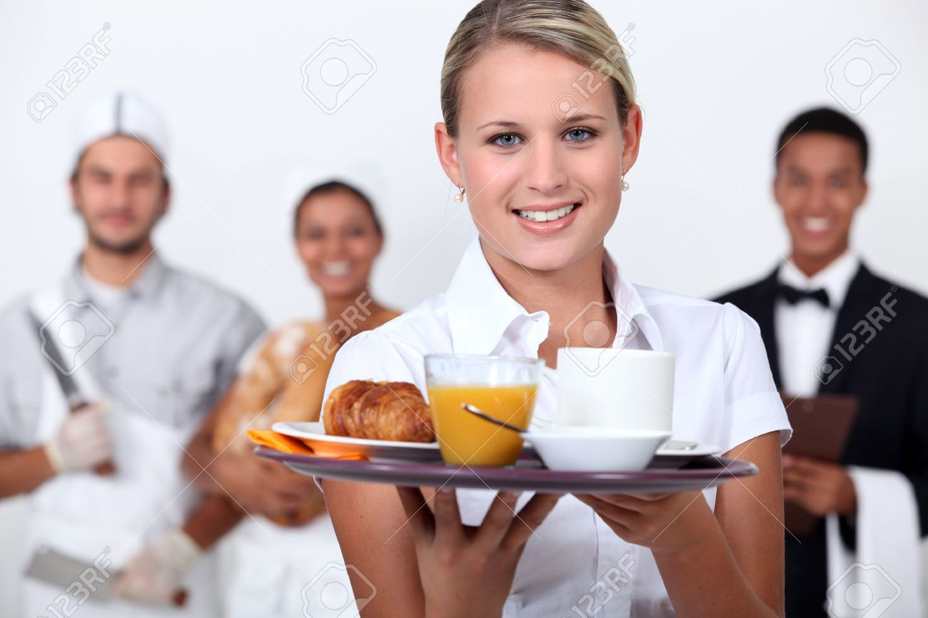 A restaurant staff Stock Photo - 15675374