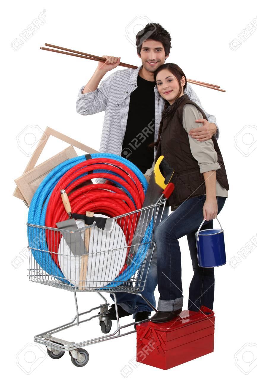 Couple buying DIY materials Stock Photo - 15815876