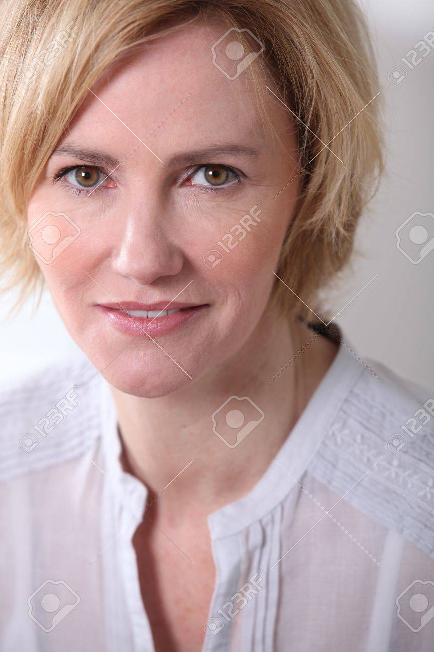 Woman with neutral expression Stock Photo - 15807415