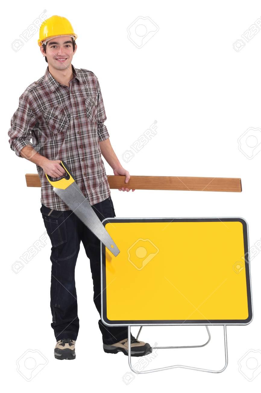 Workman with equipment Stock Photo - 15832881