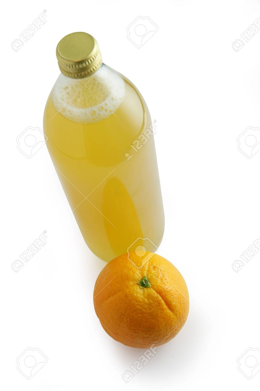 Bottle of orange juice Stock Photo - 16111203