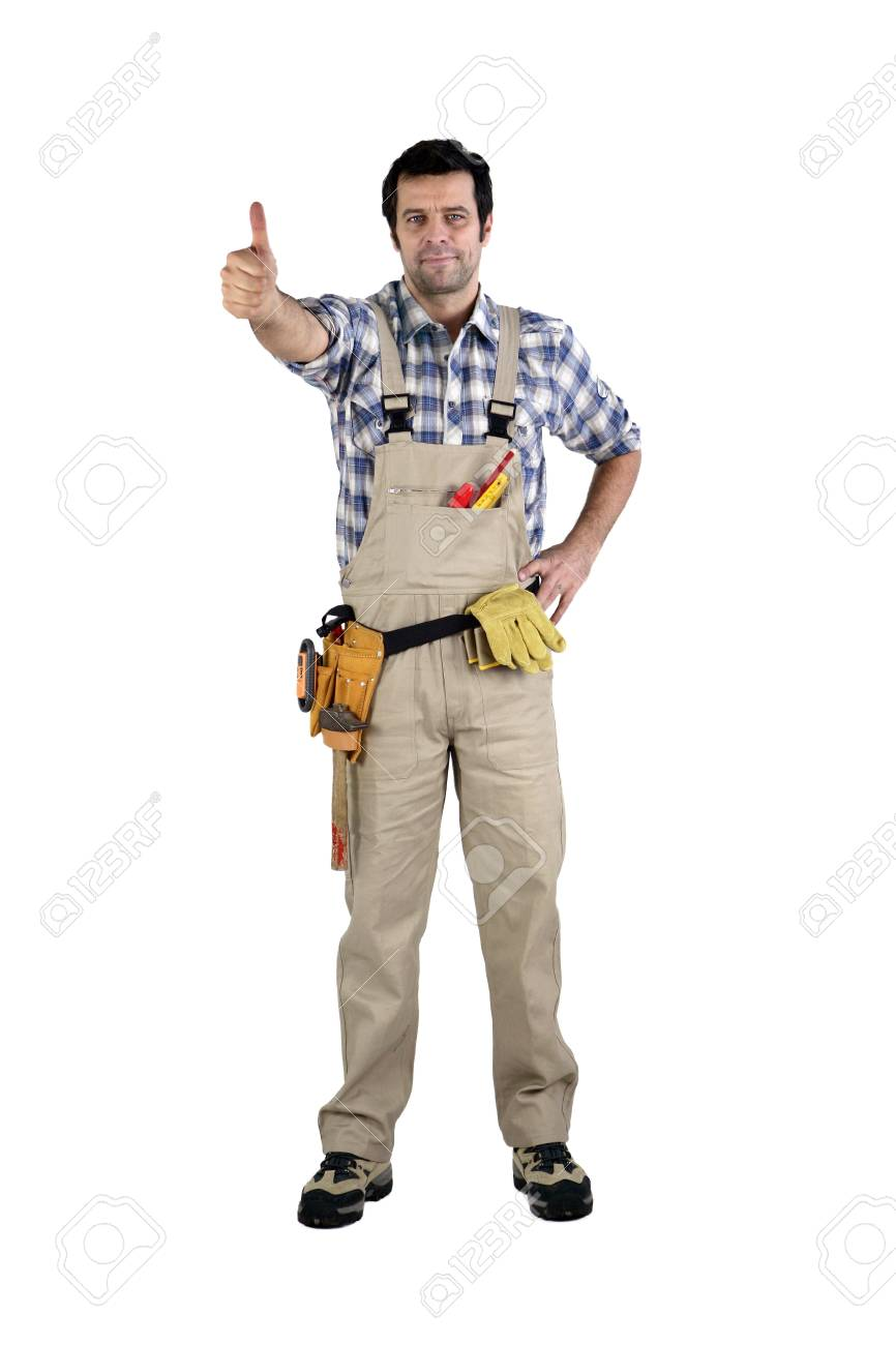 Handyman giving the thumb Stock Photo - 16037833