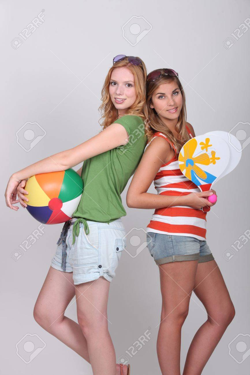 Women dressed for the beach Stock Photo - 16228518