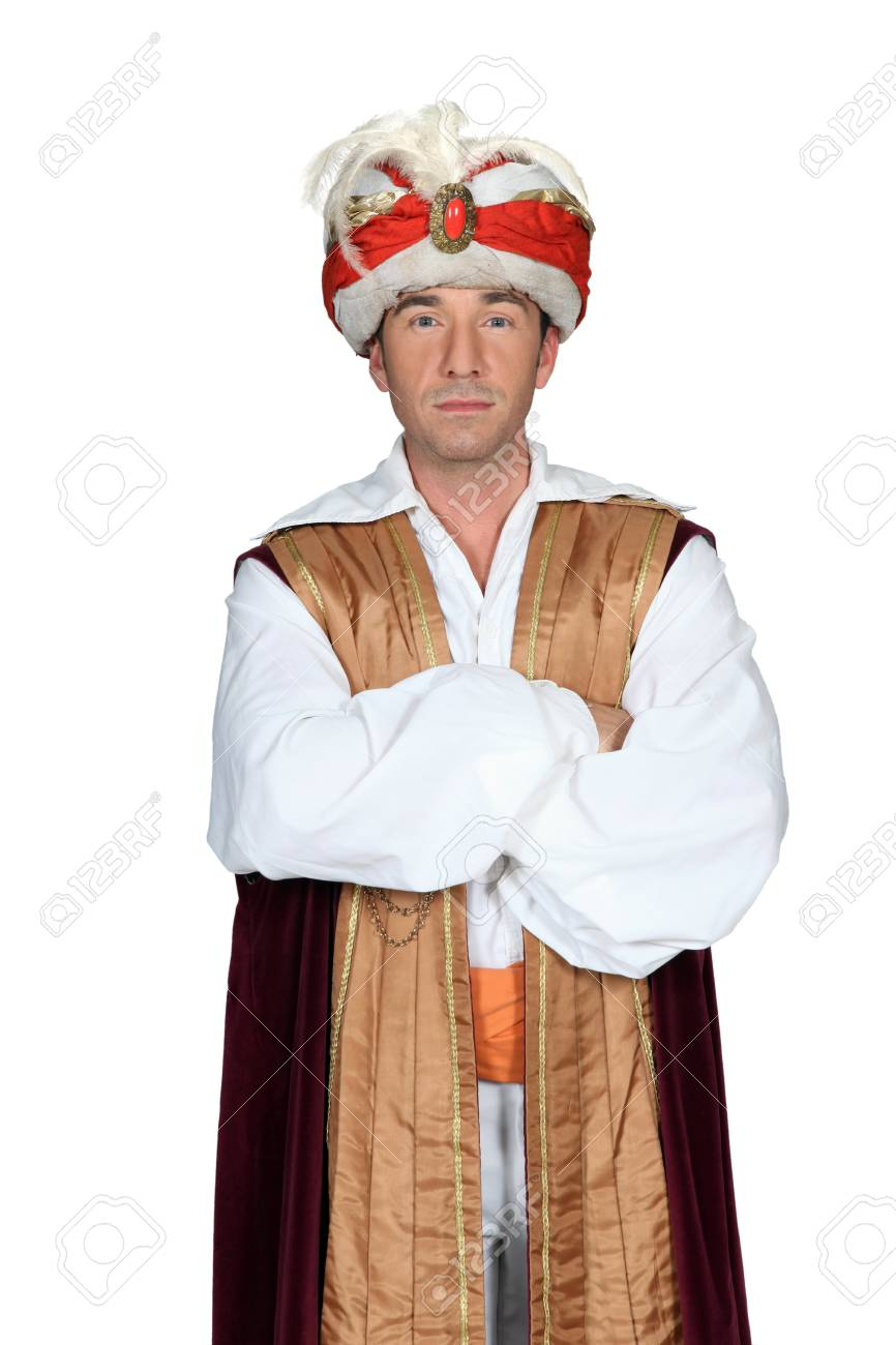 Magician with arms crossed Stock Photo - 16411483