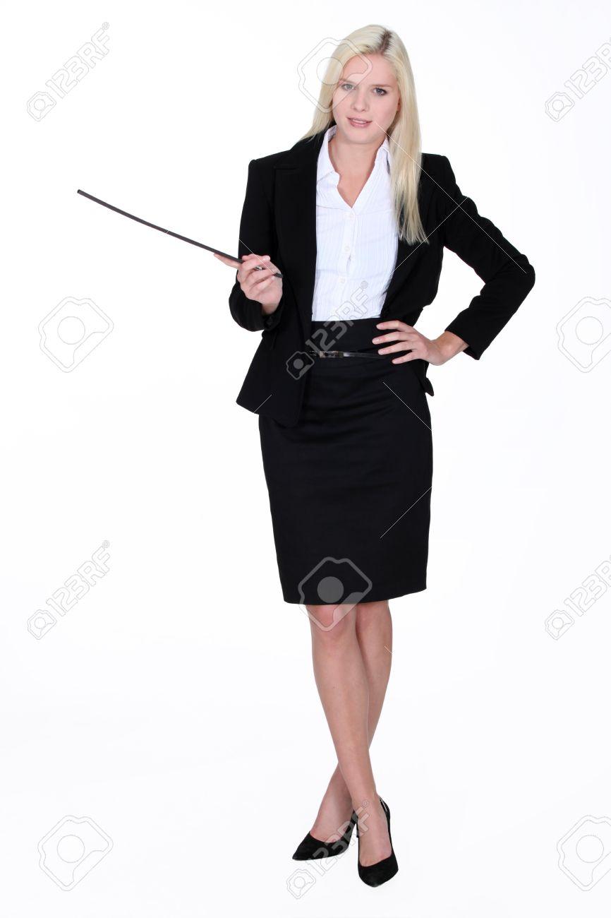 Woman giving a presentation Stock Photo - 16472402