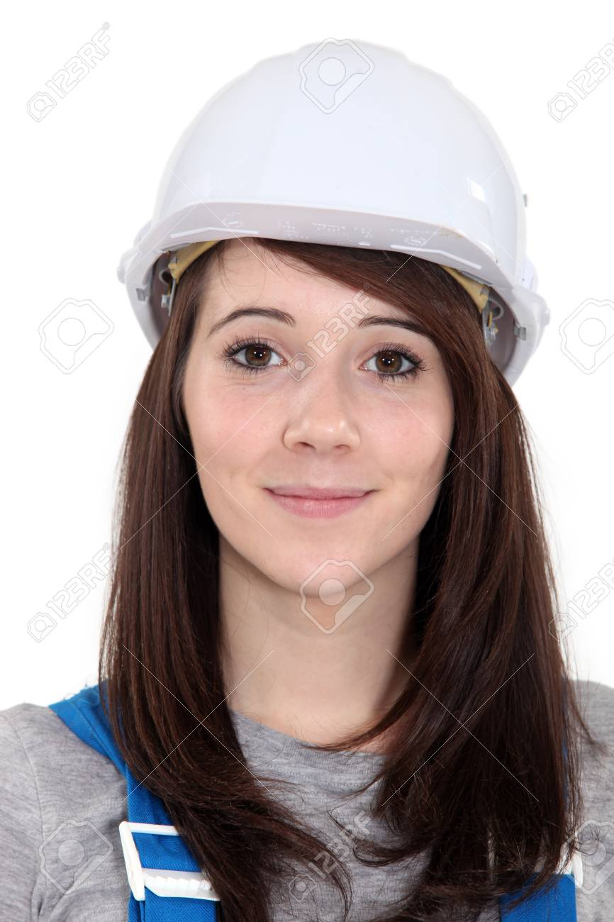 Portrait of a female construction worker Stock Photo - 16472034