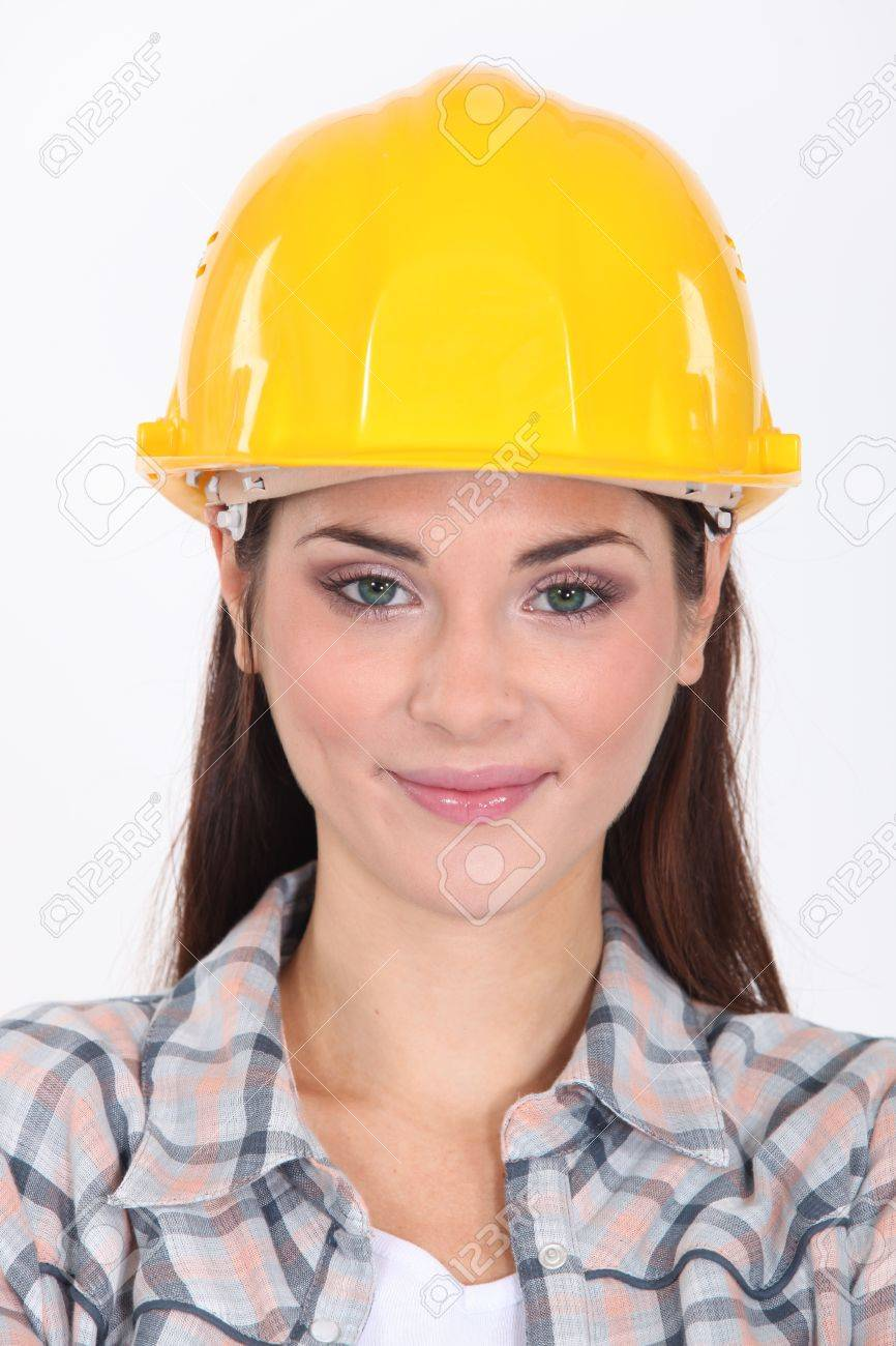 woman in a hardhat stock photo picture and royalty free image
