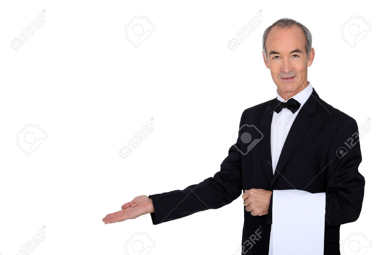 grey haired waiter stock photo picture and royalty free image