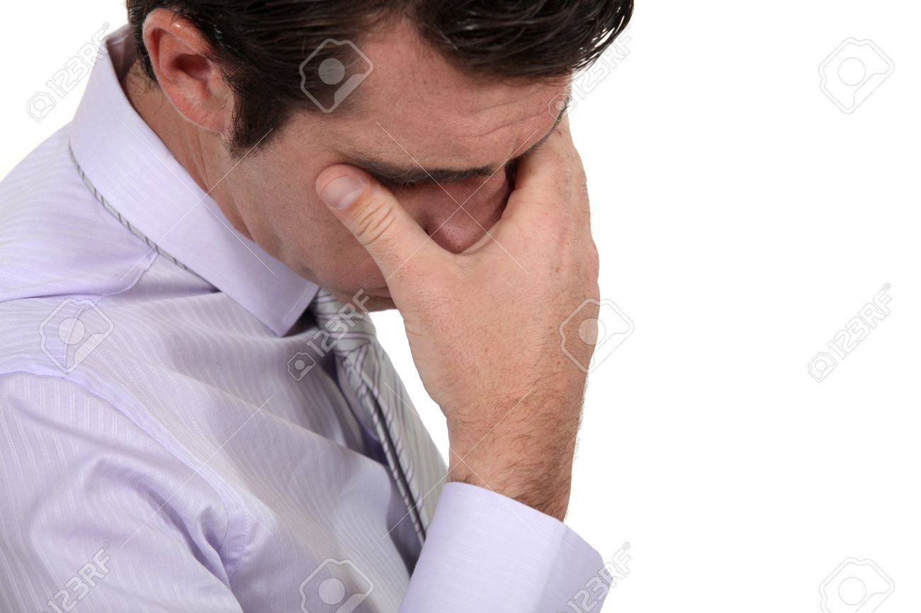 A stressed out businessman Stock Photo - 16808120
