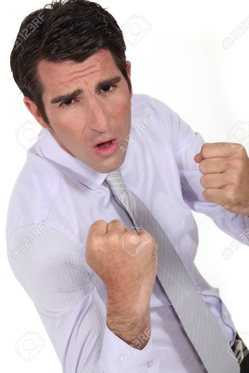 Determined businessman Stock Photo - 16808413