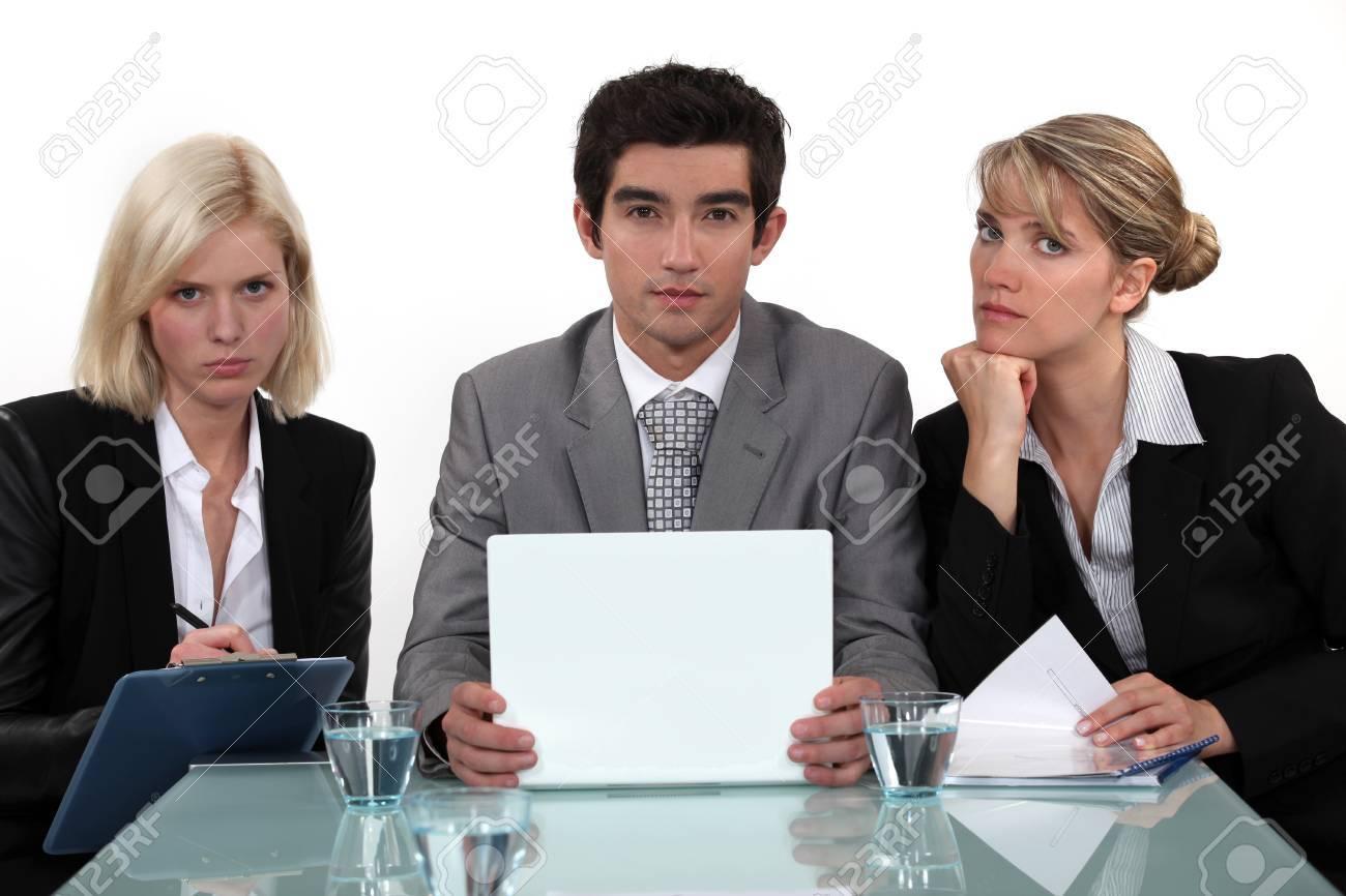 Interview panel Stock Photo - 17220158