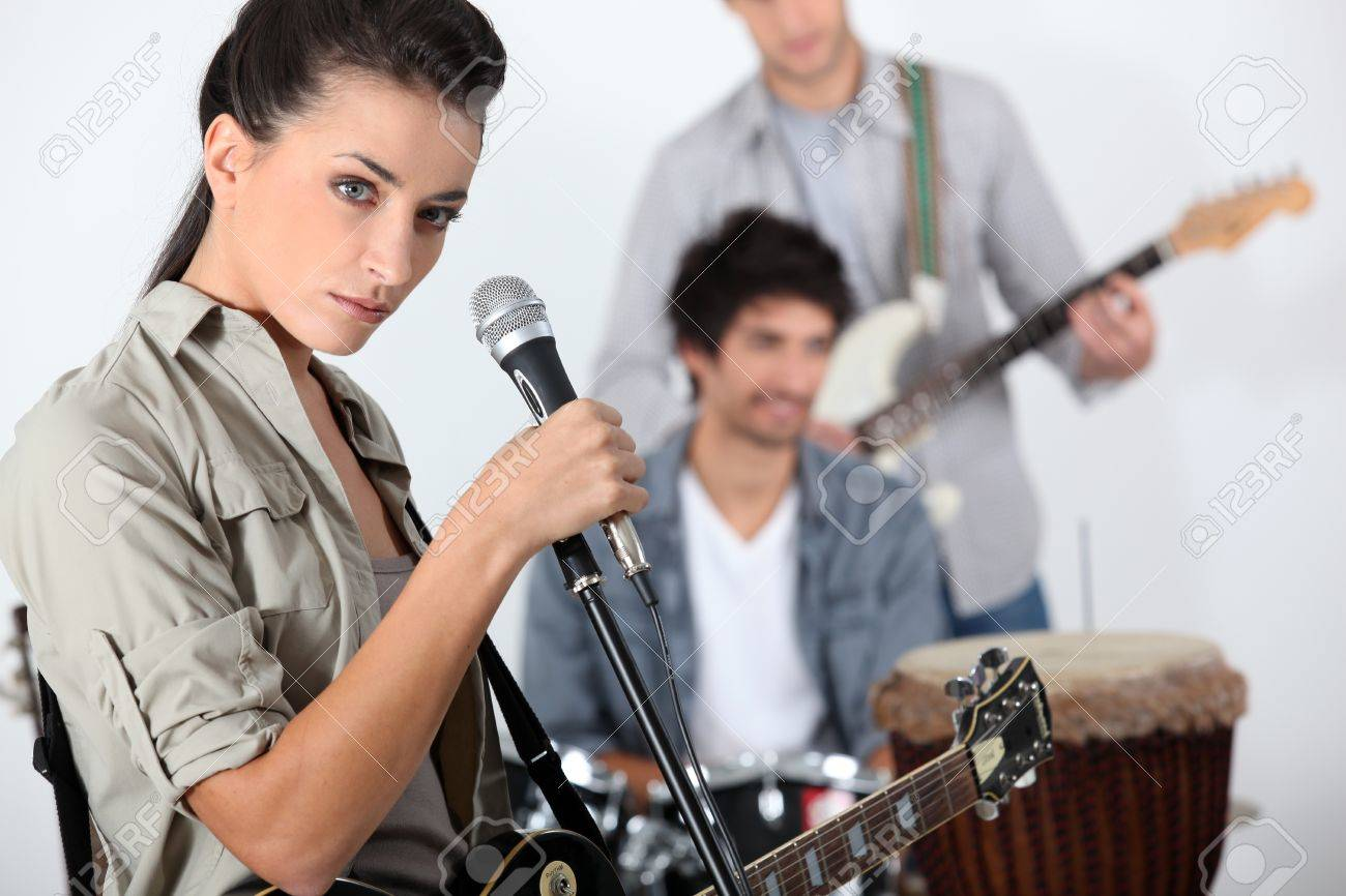Young trendy rock band Stock Photo - 17479584