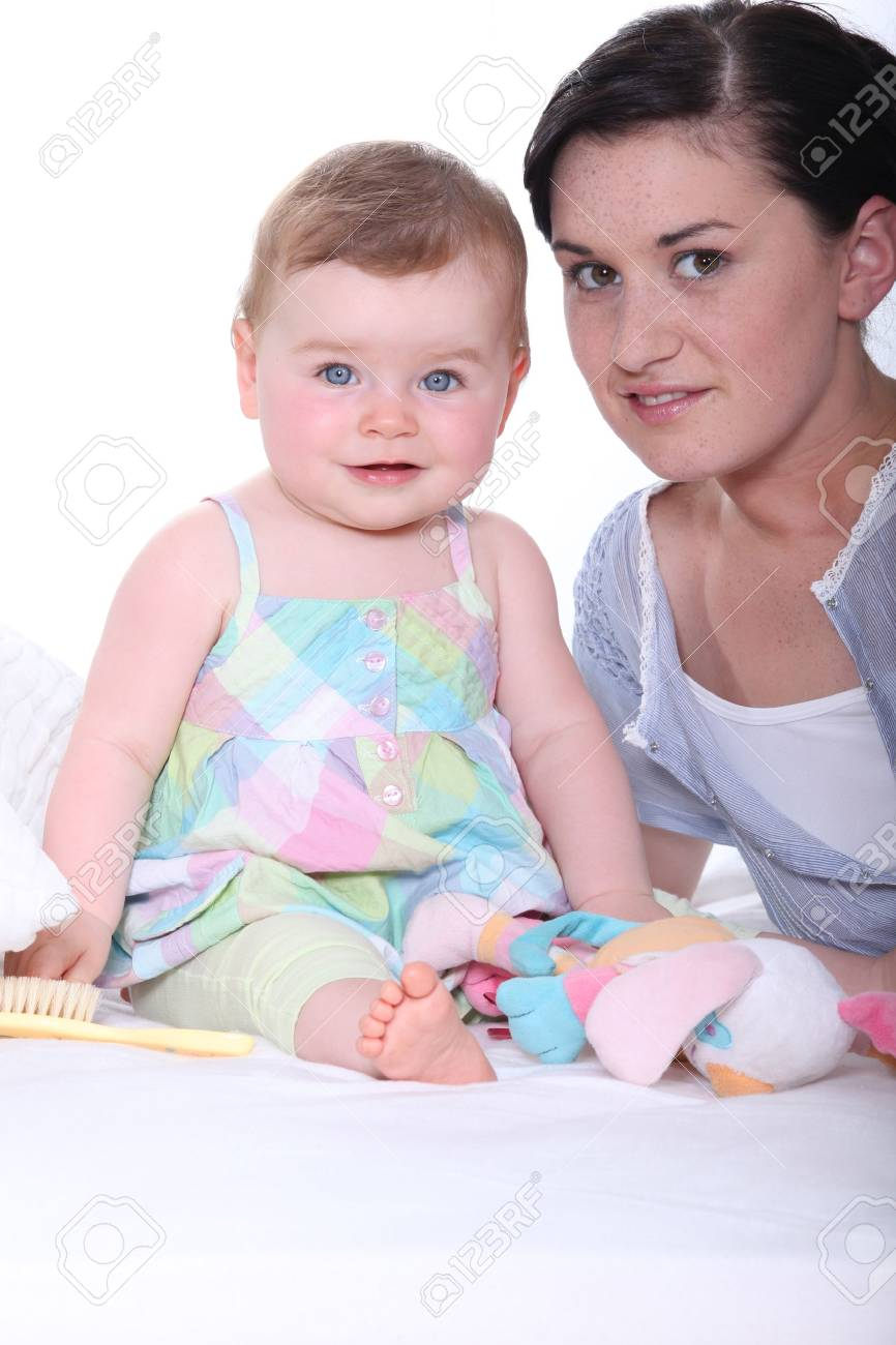 Mother with her baby Stock Photo - 17475792