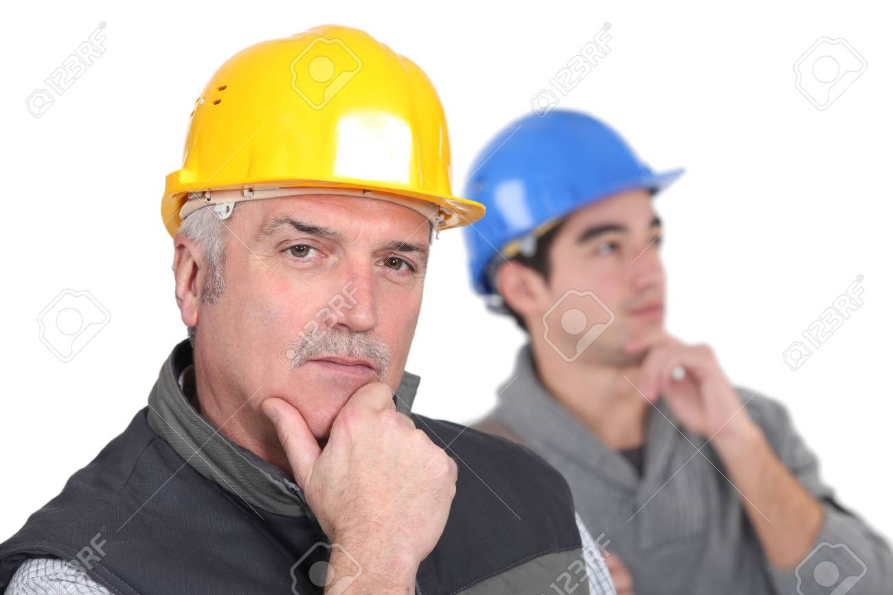 Thoughtful tradesmen Stock Photo - 17578570