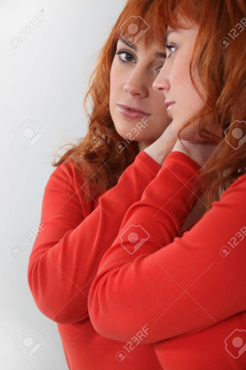 Portrait of attractive redhead Stock Photo - 17732467