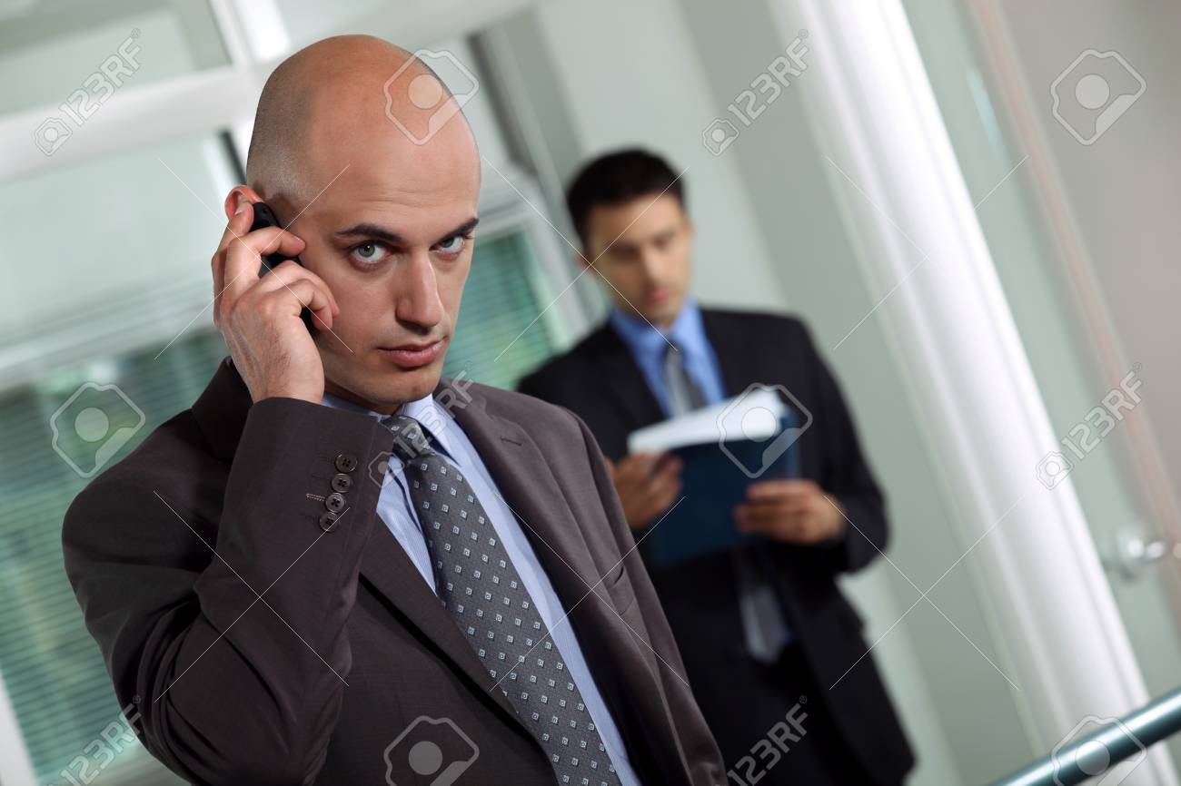 Man with mobile phone Stock Photo - 17976773