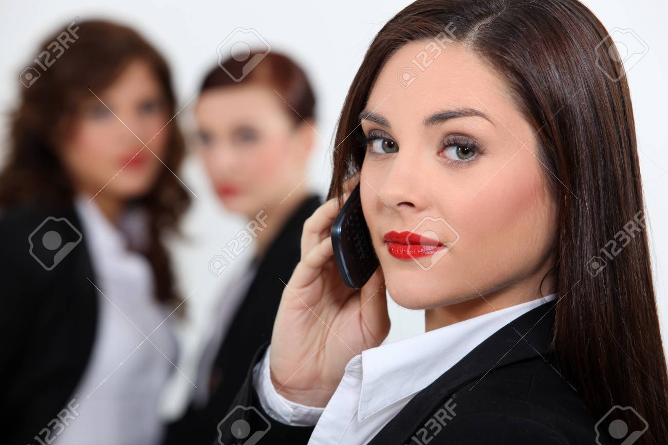 business woman at phone Stock Photo - 18100156