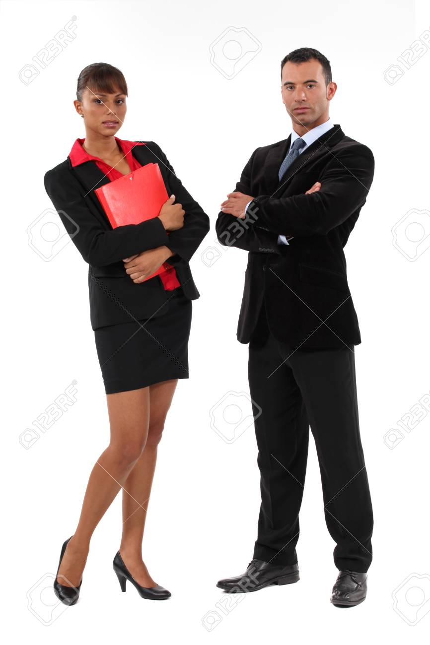 Portrait of ambitious businesspeople Stock Photo - 18088141