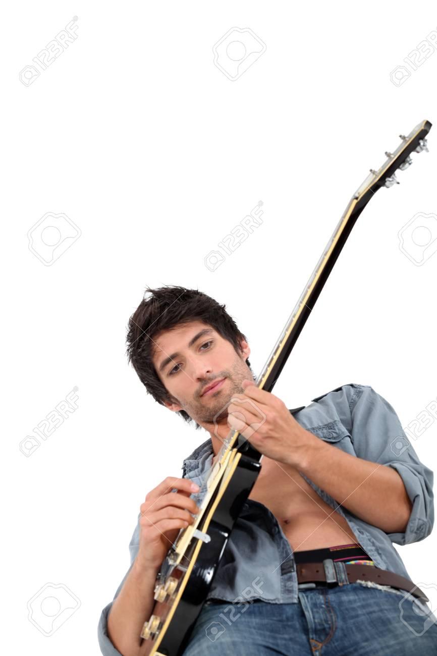 Male guitarist Stock Photo - 18464278