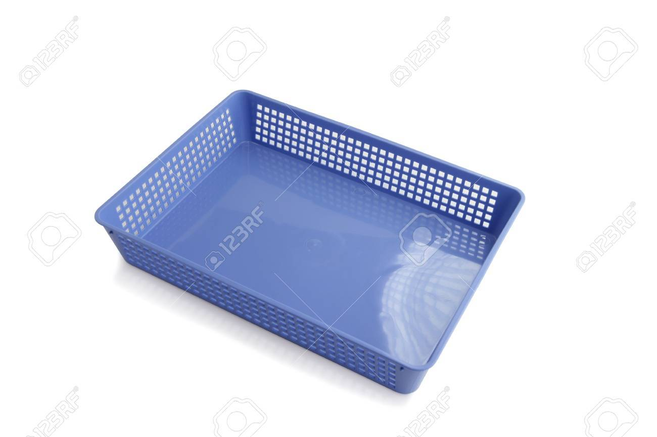 Blue office paper tray