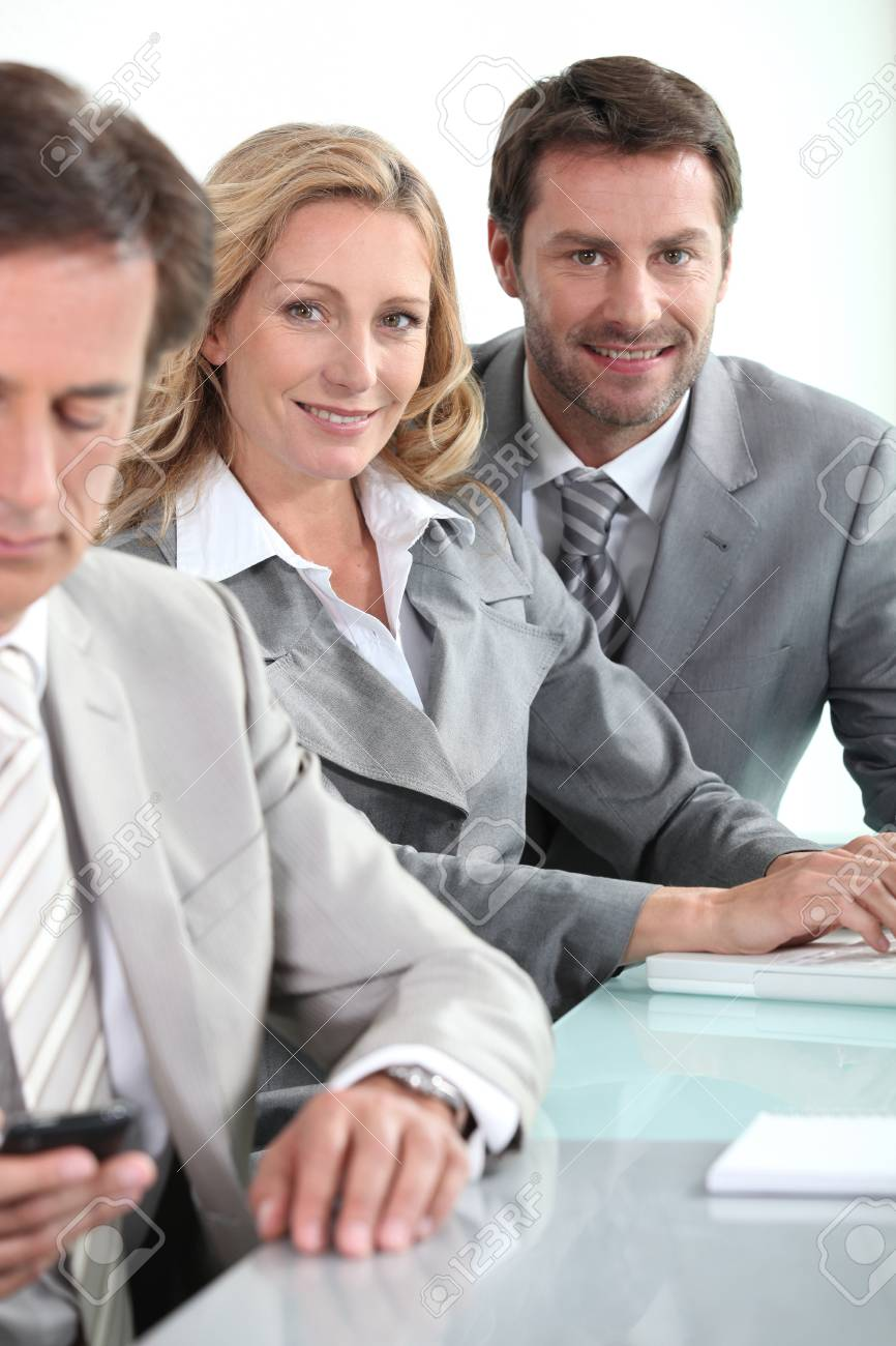 Business team in meeting Stock Photo - 22081578