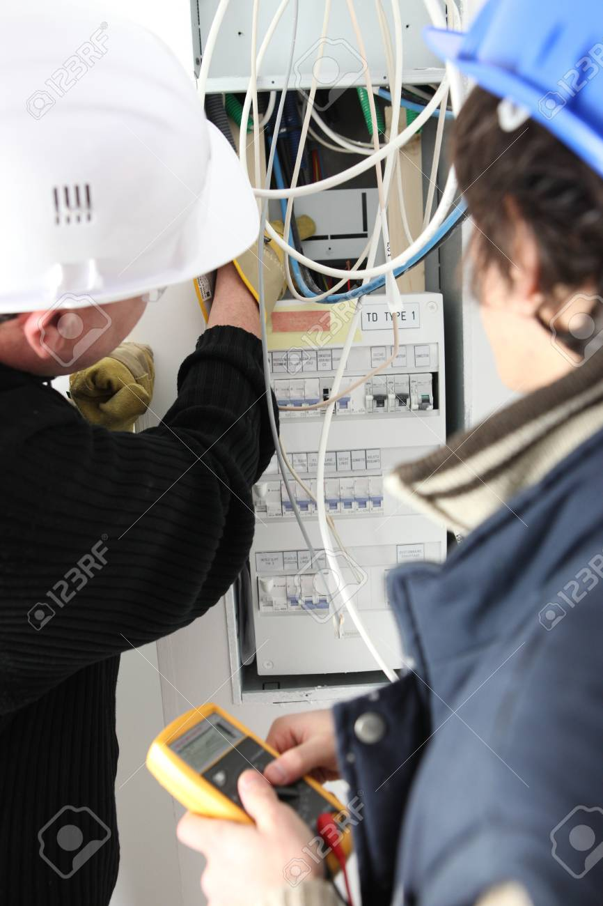 Electrical Work Stock Photo, Picture And Royalty Free Image. Image ...