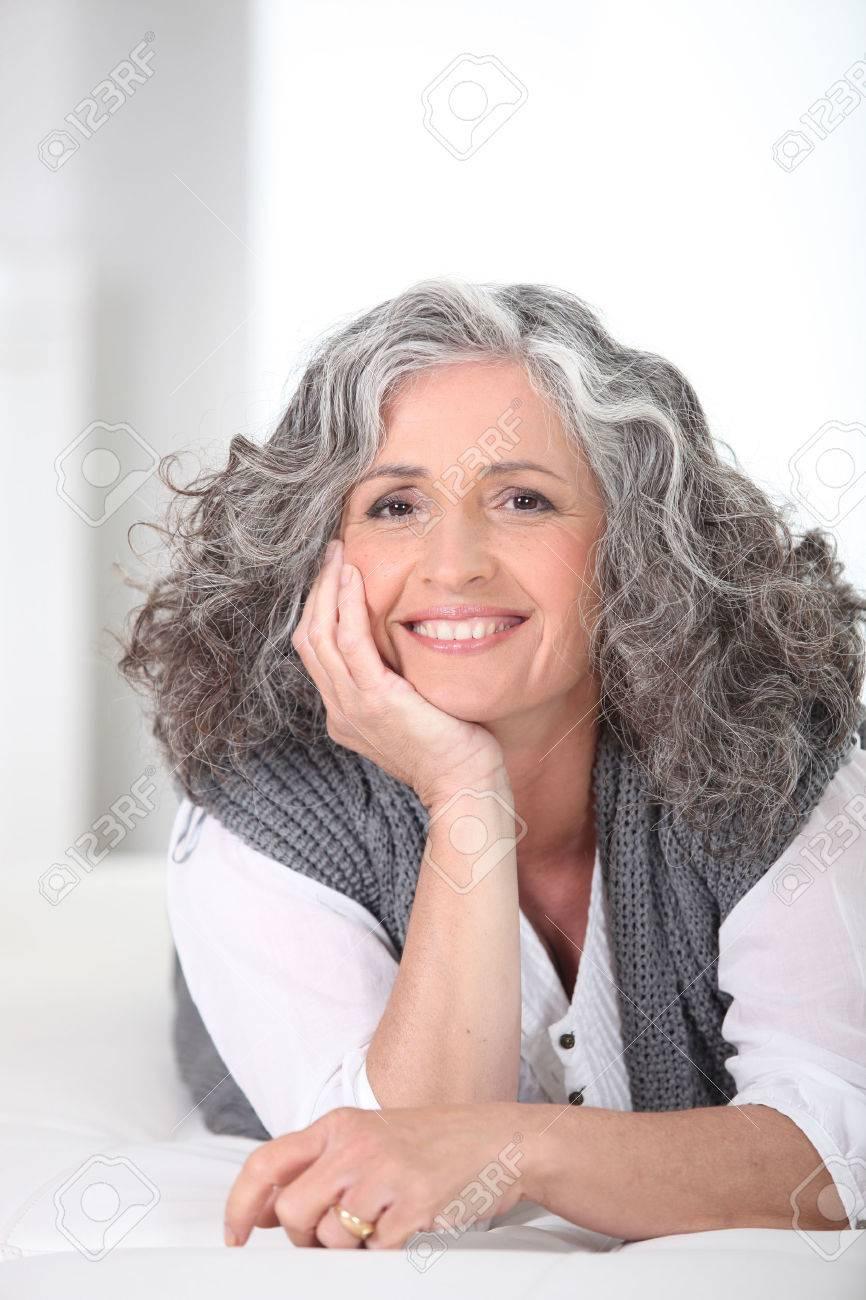 Smiling older woman Stock Photo - 22529956