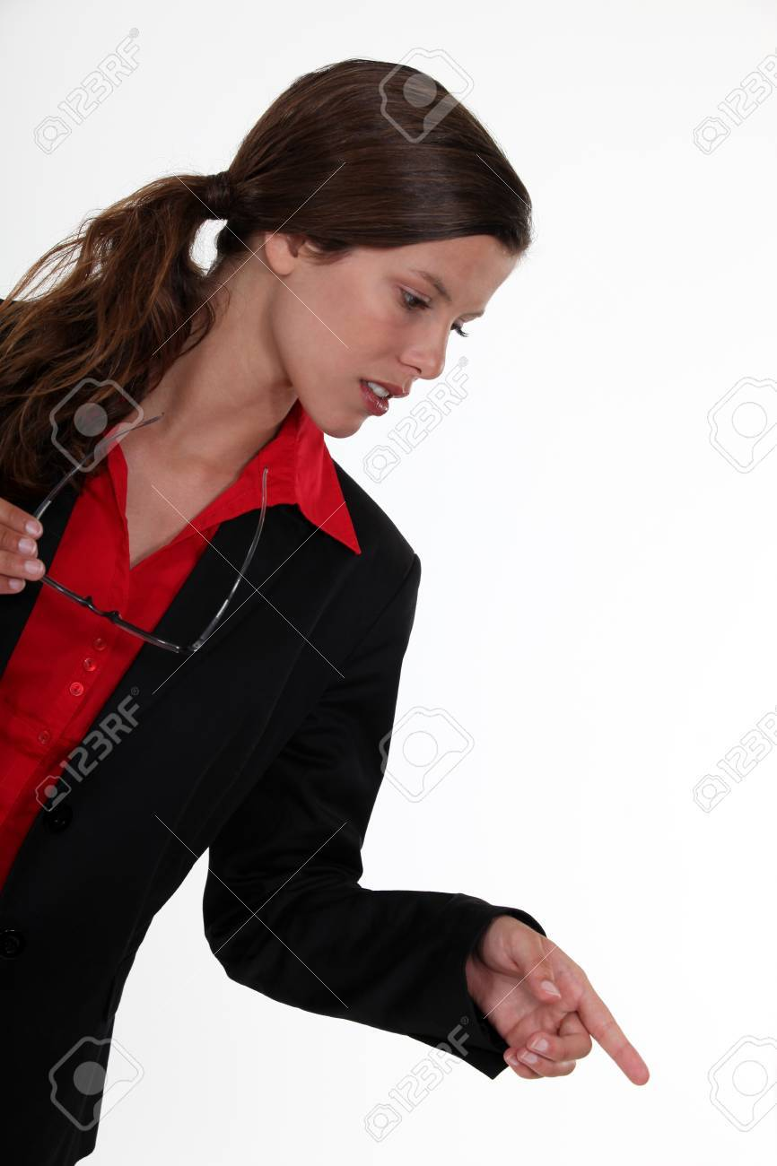 Businesswoman pointing Stock Photo - 24256941