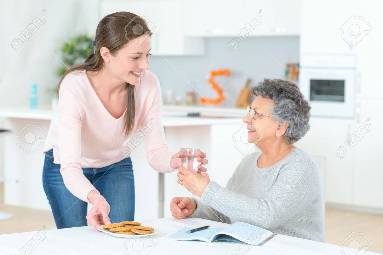 Senior lady needs to take her pills Stock Photo - 44379665