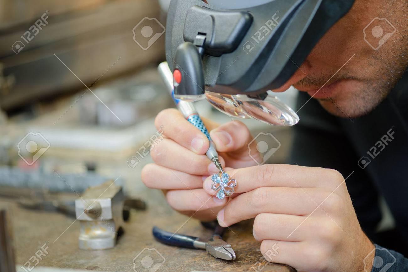 Skilled jeweller Stock Photo - 45183599