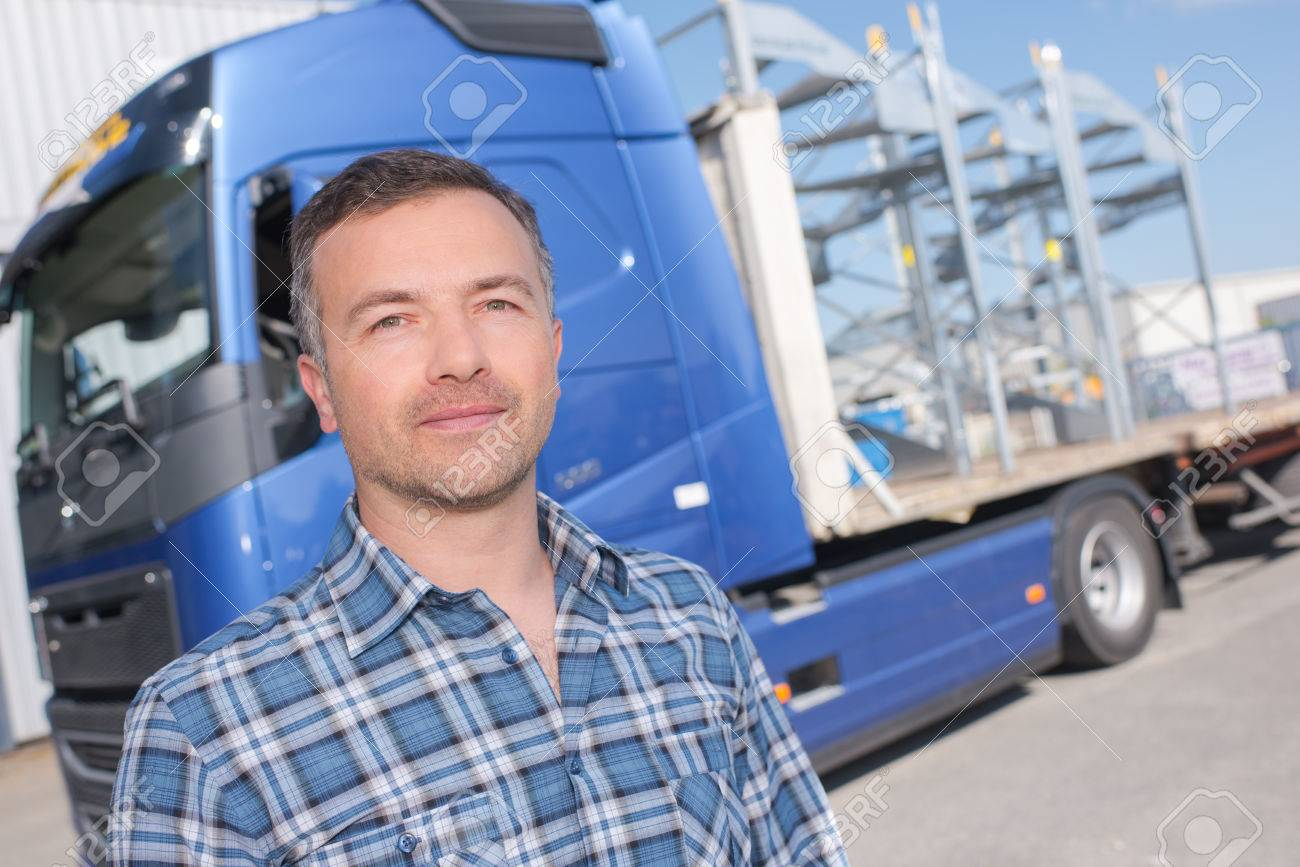 man and truck Stock Photo - 63092654