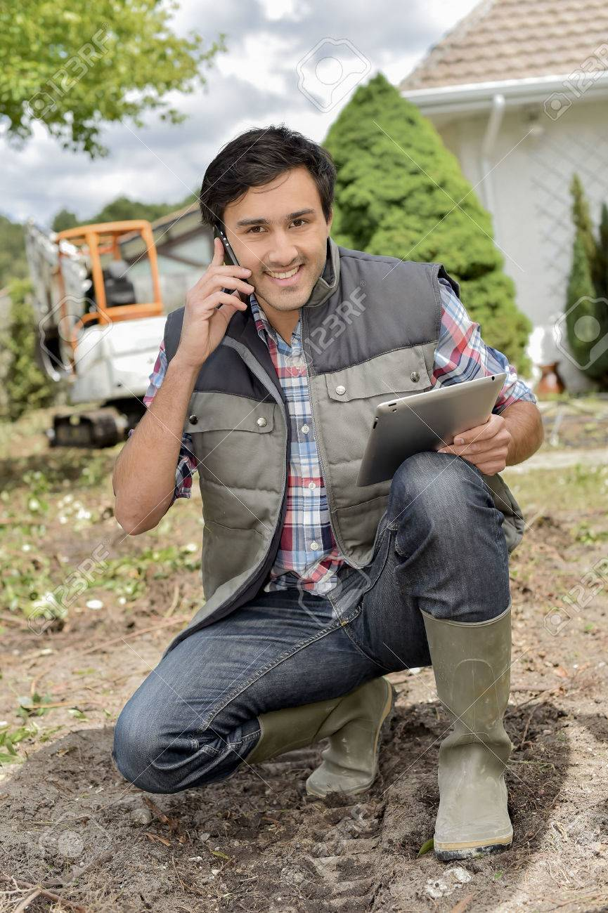 sophisticated gardener Stock Photo - 66271083
