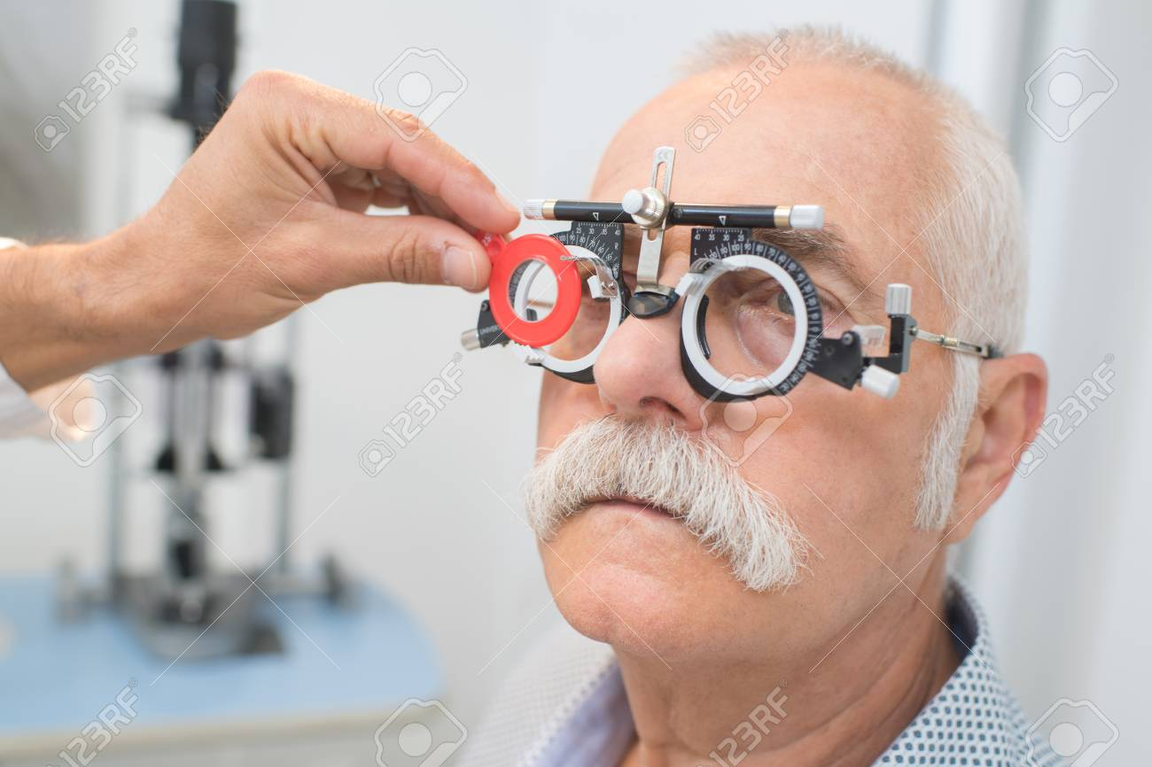 Eye Specialist Determines Distance Of Eyes Pupils To Patient Stock Photo Picture And Royalty Free Image Image 82183513