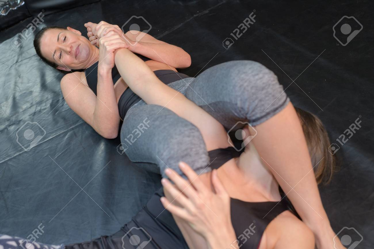 two women wrestling