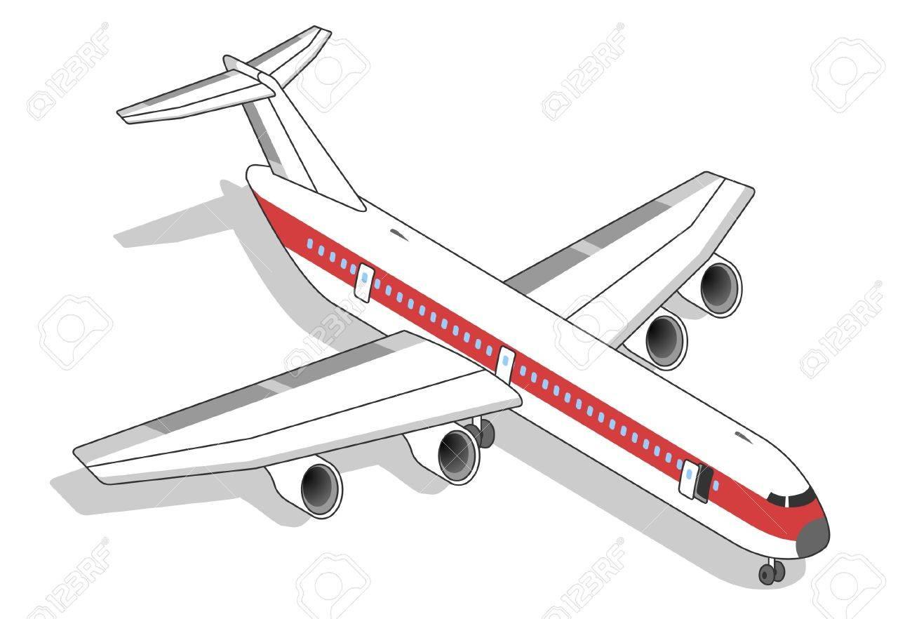 Isometric Airplane Stock Vector - 9823467