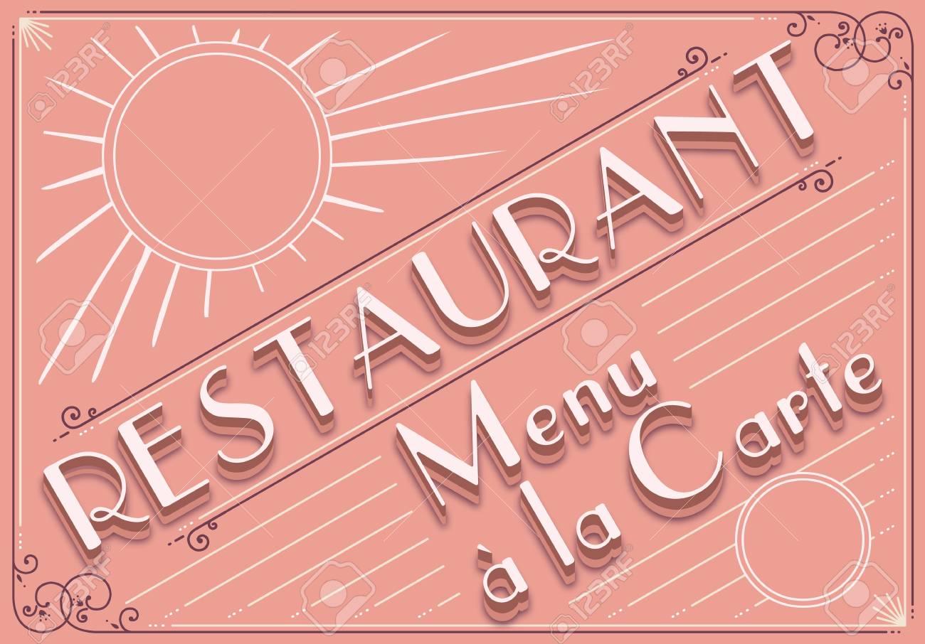 Detailed illustration of a vintage graphic element for restaurant menu Stock Vector - 15571699