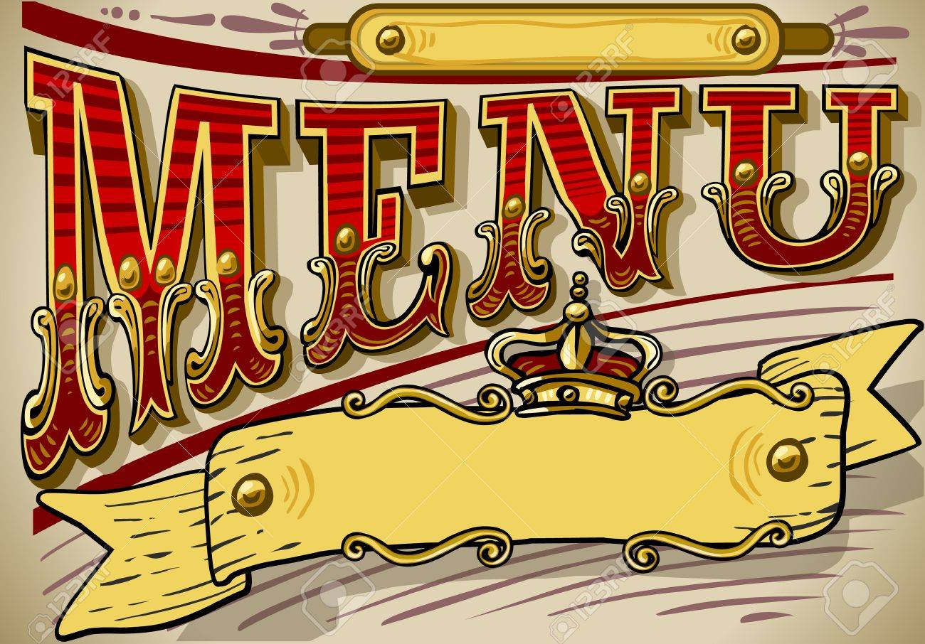Detailed illustration of a vintage graphic element for menu Stock Vector - 16392994