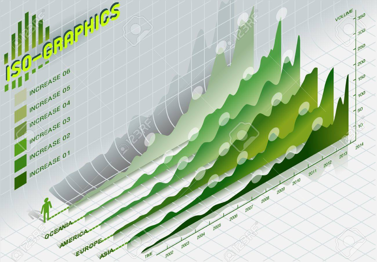 Detailed illustration of a infographic set elements in green Stock Vector - 17687391