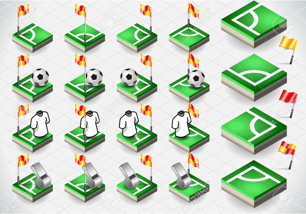 Detailed illustration of a Set of Soccer Corner and Icons Stock Vector - 18541581