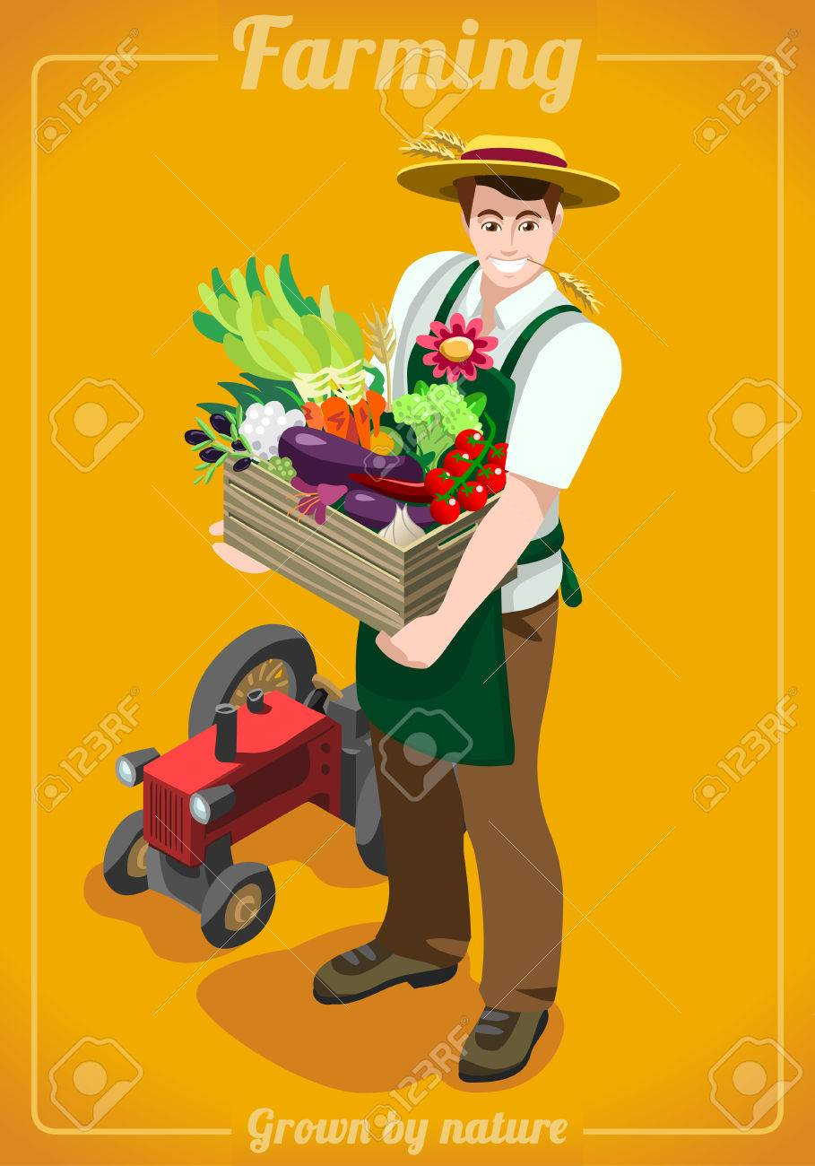 greengrocer farmer fresh food agriculture logo company grocery greengrocer farmer fresh food agriculture logo company grocery careers people unique isometric realistic poses