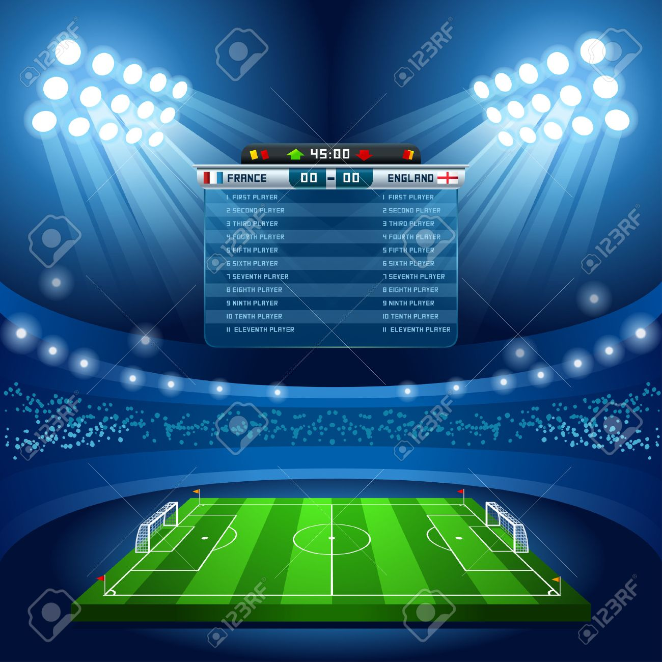 football stadium empty field background nocturnal view royalty free cliparts vectors and stock illustration image 47073243 football stadium empty field background nocturnal view